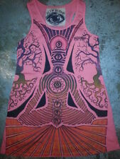 New Cotton Women Yoga Mini Dress Love Om Zen Hindu India Buy Mirror Online M