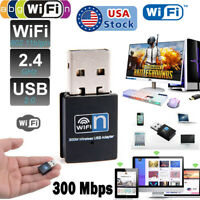 300Mbps Mini Wireless USB Wifi Adapter Dongle 802.11n/g/b for Xp Windows 7 8 10