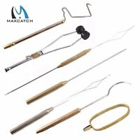 Maxcatch FLy Tying Tools Whip Finisher/Bobbins/Hackle Plier/Needle/Threader