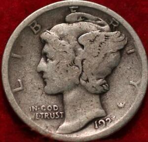 1921 Philadelphia Mint Silver Mercury Dime
