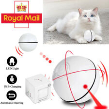 Interactive Cat Toy Ball LED Laser USB Rechargeable 360 Degree Self Rotation