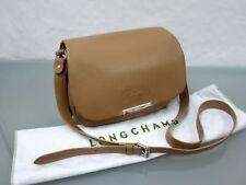 LONGCHAMP Leder Handtasche Leder Crossbody Bag Schultertasche Cognac Beige