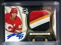 2018-19 Sean Monahan The Cup Calgary Flames Limited Logos 4 COLOR Patch Auto /50