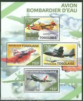 TOGO 2014 FIRE FIGHTING PLANES SHEET MINT NH