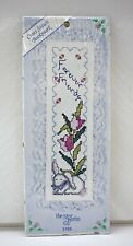 Forever Friends Bunny Rabbit Bookmark Counted Cross Stitch Kit - New Berlin Co
