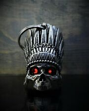 DIAMOND INDIAN SKULL Ride Bell guardian to protect against motorcycle gremlins