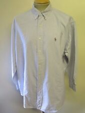 Ralph Lauren POLO men's Blue Stripe Long Sleeved Casual Shirt L 42-46 Euro 52-56
