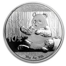Chinese Mint China ¥ 10 Yuan Panda 2017 30 g gram .999 Silver Coin (about 1 oz )