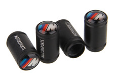 BMW M SPORT PERFORMANCE WHEEL VALVE DUST CAPS SET of 4 BLACK