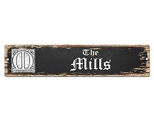 SP0771 The MILLS Family name Sign Bar Store Shop Cafe Home Chic Decor Gift
