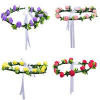 New Floral Crown Rose Flower Headband Hairband Hen Party Hair Garland Headpiece