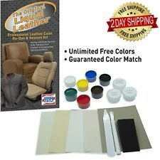 Leather Repair and Re-Color Kit for All Vinyl & Leather , Car Seats , Upholstery