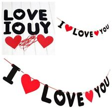 I LOVE YOU Valentine's Day Banner Bunting Garland Engagement Party Decorations