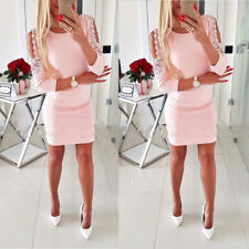 Sexy Womens Bandage Cold Shoulder Bodycon Evening Party Club Cocktail Mini Dress