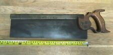 """Vintage 14"""" brass backed tenon saw old tool by Thos Turner & Co"""