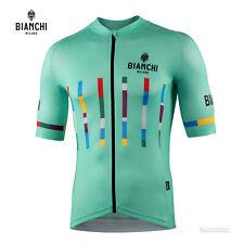 NEW 2021 Bianchi Milano FANACO Short Sleeve Cycling Jersey : CELESTE