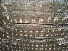 """Authentic African Handwoven Triangle, Dots and Zigzags Mud Cloth 63"""" by 43"""""""