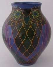 Unique Dennis Chinaworks Pottery Owl Vase Designed By Sally Tuffin - Trial Piece