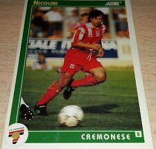 CARD SCORE 1993 CREMONESE NICOLINI CALCIO FOOTBALL SOCCER ALBUM