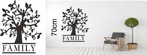 TREE FAMILY 70cm TALL WALL ART