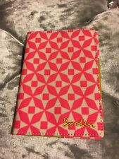 Boden Pink White Passport Holder Cover Holiday Beach Travel Luggage Tag Designer