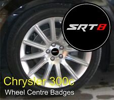 Chrysler 300c SRT8 Logo Wheel Centre Badge Emblems