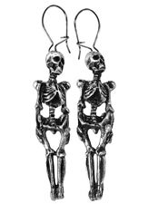 GENUINE Alchemy Gothic Earrings - Skeleton (pair) | Men's Ladies Jewellery