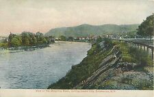 1910 View on the Allegheny River, Towards Salamanca, new York Postcard