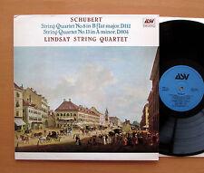 ASV DCA 593 Schubert String Quartet no. 8 & 13 Lindsay String Quartet 1987 NM/EX