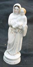 ancienne vierge a l enfant signéeen biscuit ou porcelaine de paris ?