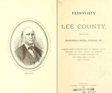 1881 LEE County Illinois IL, History & Genealogy, Ancestry Family Tree DVD B33