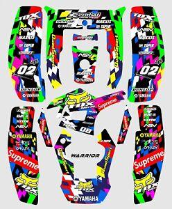 Yamaha Warrior 350 Graphics kit stickers decals ATV UTV