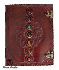 Seven Stone Diary Mehrap Notebook Handmade Book of Shadow Leather Journal 13x10