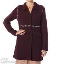 Odd Molly # 20 crochet knitted handmade brown coat heavy cotton cardigan size 1