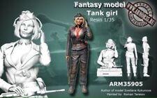 WOO Free shipping 1/35 TANK Girl Resin Figure Model Kit  WWII German Tank girl