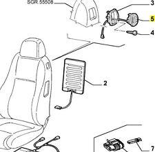Alfa Romeo 147 3 Puertas & GT anulado/asa de asiento derecho & Cable Nuevo Y Genuino
