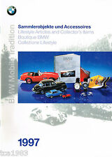 1997 BMW MINIATURES DieCast Die-Cast Collectables/Accessories Catalog / Brochure