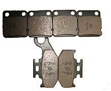 Front Rear brake pads 2007 YAMAHA YFM 400 450 Grizzly