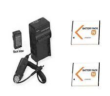 2X Batteries + Charger for Sony DSC-T99G DSC-TX5B DSC-TX5G DSC-TX5P DSC-TX300V