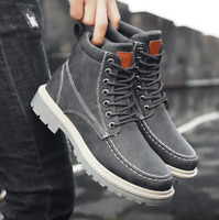 Winter Ankle Boot Men Casual Shoes Lace-Up Autumn Leather Martin Boot
