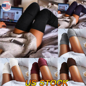 Ladies Thigh High Over Knee Socks Women Candy Color Long Cotton Warm Stockings