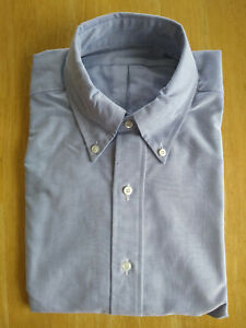 NWOT Brooks Brothers Blue Supima Oxford Button Down 15.5-31 Milano Fit MSRP $140