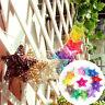 2x Rattan Stars Christmas Birthday Party Ornaments Xmas Tree Hanging Decor 6CM