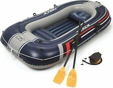 Bestway Hydro Force Treck X2 Inflatable Fishing River Water Boat Raft with Oars.