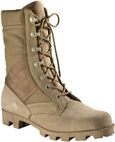 Desert Tan Speedlace Military Style Combat Boots with Panama Sole ROTHCO 5057