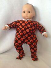 "15"" Bitty Baby Halloween pumpkin sleeper pajamas pjs twins girl/boy Doll Clothes"