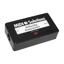 MIDI Solutions Velocity Converter applies selected velocity curves to MIDI notes