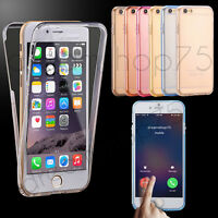 HOUSSE ETUI COQUE FULL PROTECTION SILICONE TPU IPHONE 4 5 5C SE 6 6S 7 7PLUS 8