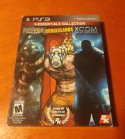 2K Essentials Collection Sony PlayStation 3 PS3 Bioshock , Borderlands , XCOM