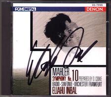 Eliahu INBAL Signiert MAHLER Symphony No.10 Deryck Cooke DENON USA CD Frankfurt